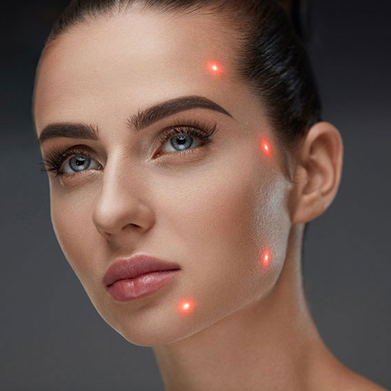 woman with receiving laser facial at Gleam Medical Spa